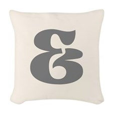 Gray Ampersand And Sign Woven Throw Pillow