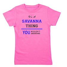 Cute Savanna Girl's Tee