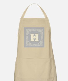 Gray Personalized monogram initial Apron