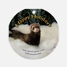 Ferret Happy Holidays Ornament (Round)