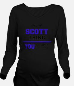 Cute Scott Long Sleeve Maternity T-Shirt