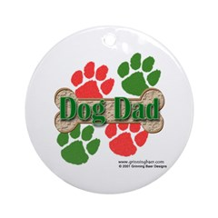 Dog Dad Ornament (Round)