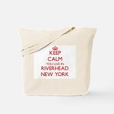 Keep calm you live in Riverhead New York Tote Bag