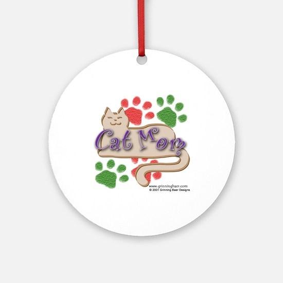 Cat Mom Ornament (Round)