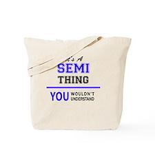 Unique Semi Tote Bag