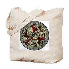 Celtic Deer Knotwork Tote Bag