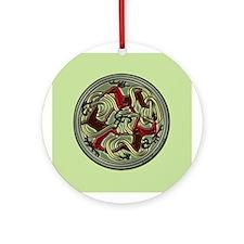 Celtic Deer Knotwork Round Ornament