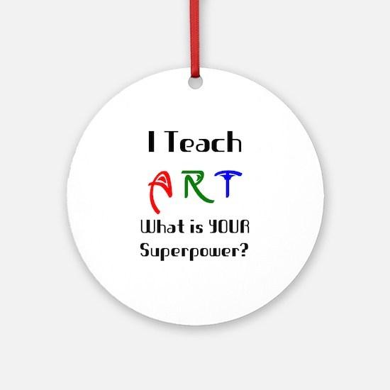 teach art Round Ornament