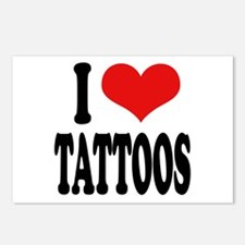 I Love Tattoos Postcards (Package of 8)