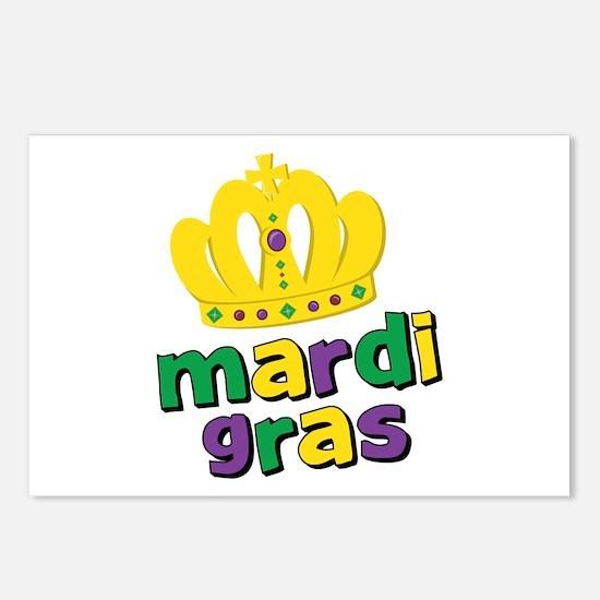 Mardi Gras Crown Postcards (Package of 8)