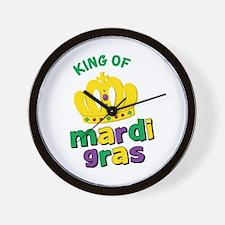 Mardi Gras King Wall Clock