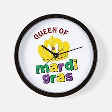 Mardi Gras Queen Wall Clock