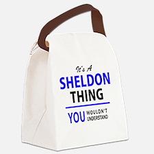 Cute Sheldon Canvas Lunch Bag