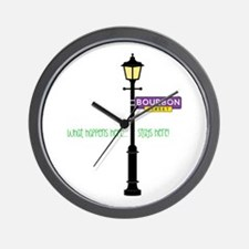 Stays Here Wall Clock
