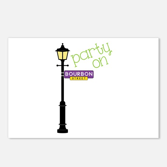 Party on Bourbon St Postcards (Package of 8)