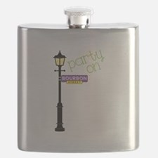 Party on Bourbon St Flask