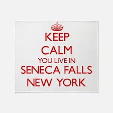 Keep calm you live in Seneca Falls N Throw Blanket