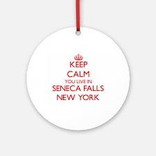 Keep calm you live in Seneca Fall Ornament (Round)