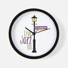 Live Jazz Wall Clock