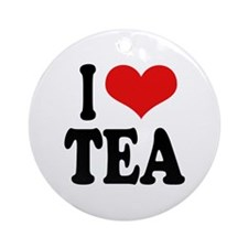 I Love Tea Ornament (Round)