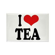 I Love Tea Rectangle Magnet