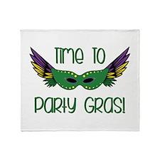 Party Gras Throw Blanket