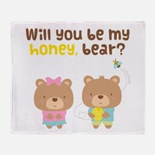 Cute Be My Honey Bear Love Confession Throw Blanke