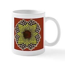 Orange Geometric flower Mug