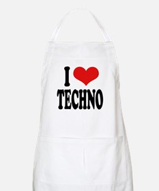 I Love Techno BBQ Apron