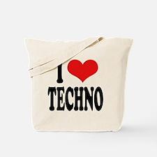 I Love Techno Tote Bag