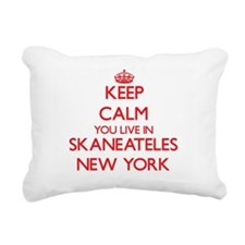Keep calm you live in Sk Rectangular Canvas Pillow