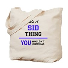 Funny Sids Tote Bag