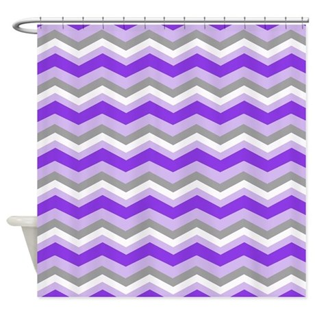 Purple Gray Chevron Shower Curtain By Listing Store 62325139