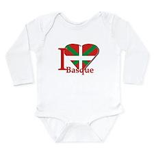 I love Basque Long Sleeve Infant Bodysuit