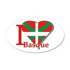 I love Basque Oval Car Magnet