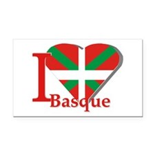 I love Basque Rectangle Car Magnet