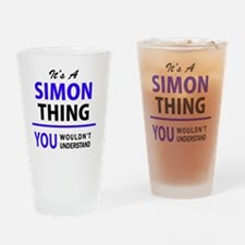 Funny Simon Drinking Glass