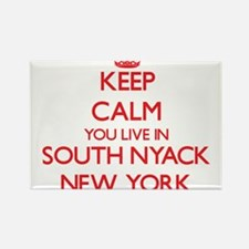 Keep calm you live in South Nyack New York Magnets