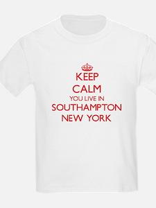 Keep calm you live in Southampton New York T-Shirt