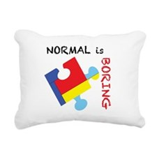 Normal is Boring Rectangular Canvas Pillow