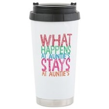 What Happens At Auntie' Travel Mug