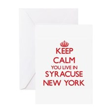 Keep calm you live in Syracuse New Greeting Cards