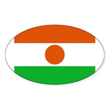 Niger Flag Oval Decal