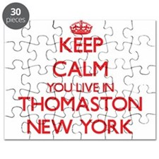 Keep calm you live in Thomaston New York Puzzle