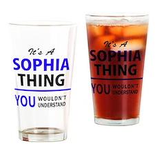 Cute Sophia Drinking Glass