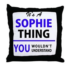 Cute Sophie Throw Pillow