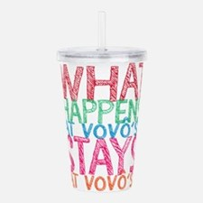 What Happens Vovo's Acrylic Double-wall Tumbler
