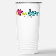 Cool Deaf dog Travel Mug