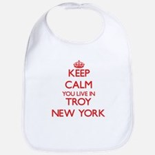 Keep calm you live in Troy New York Bib