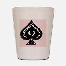 Queen of Spades design Shot Glass